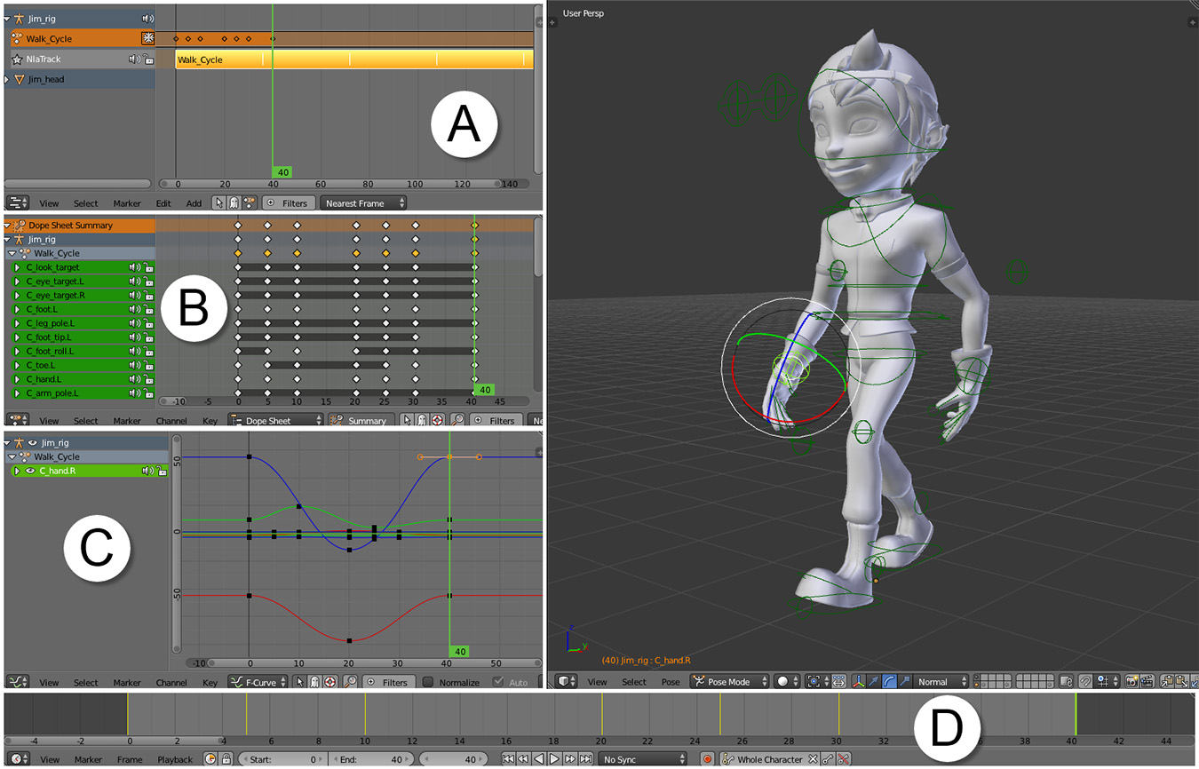 Animation Editors - Learning Blender: A Hands-On Guide to