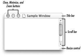 Standard window controls