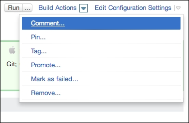 Build result actions