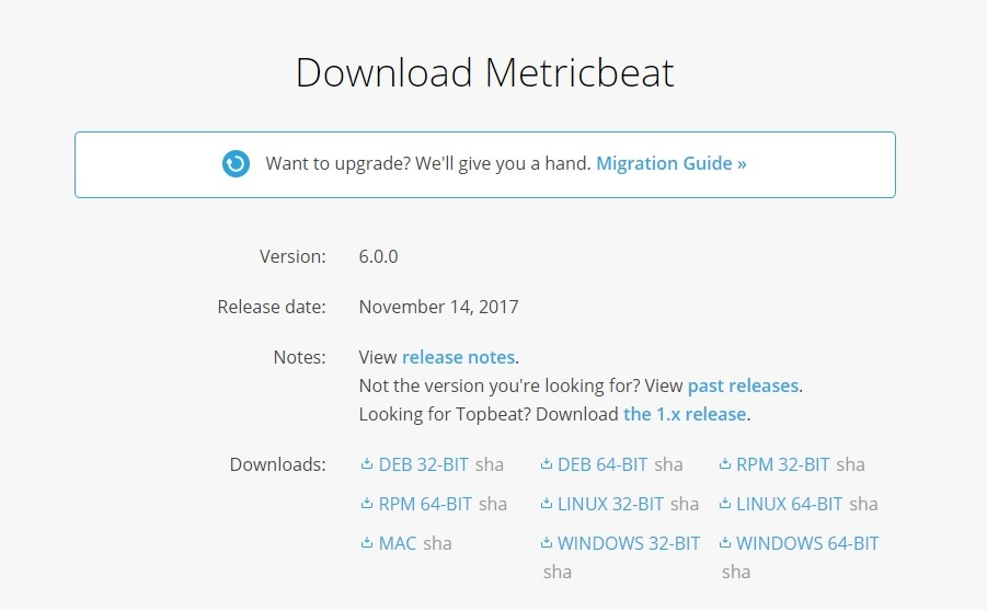 Downloading and installing Metricbeat - Learning Elastic Stack 6 0