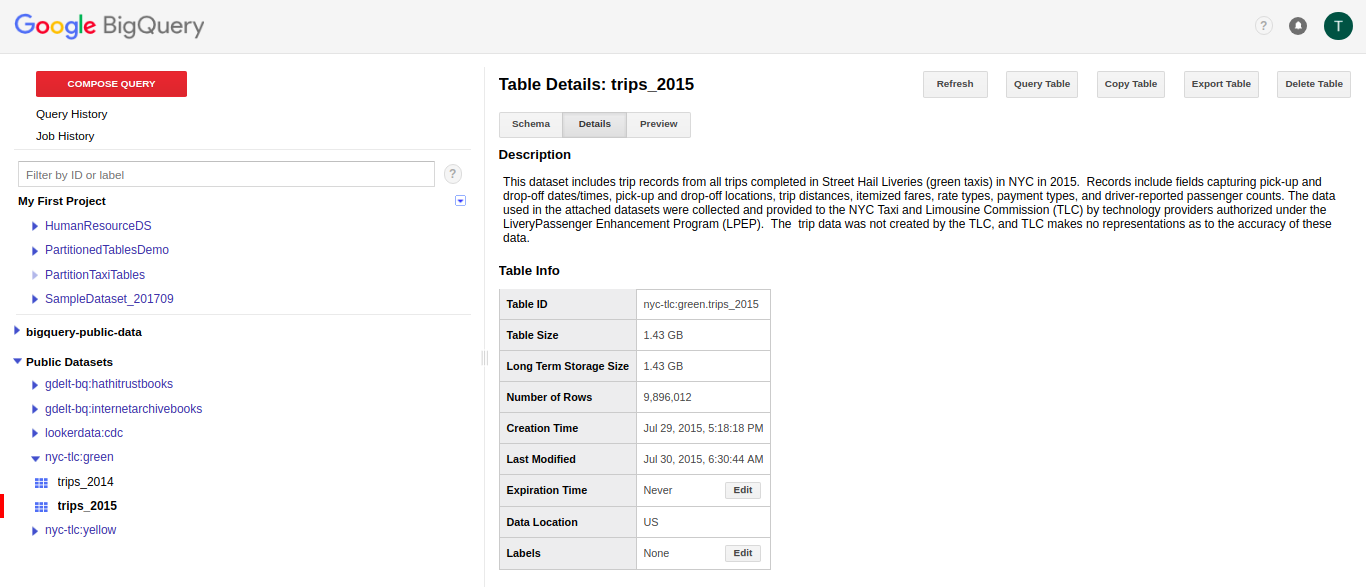 Querying data in a partition table - Learning Google