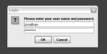 Using a JPasswordField in a dialog