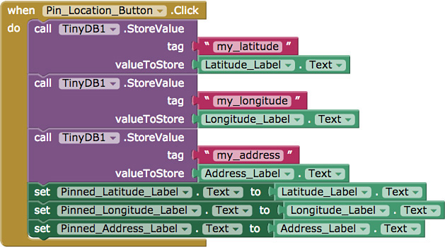 Programming Part 2: Pinning a Location - Learning MIT App Inventor