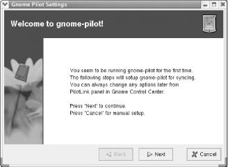 The gnome-pilot Welcome panel