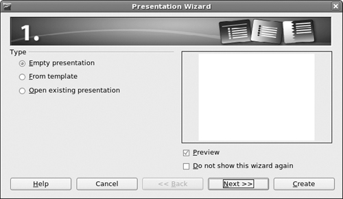 Presentations with openoffice impress linux for dummies 8th the openoffice autopilot presentation wizard in fedora maxwellsz