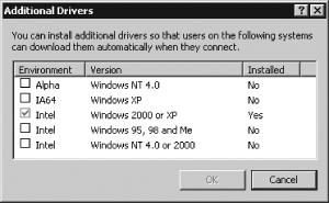You can install drivers for additional Windows OSs