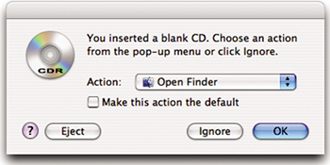 To burn a CD or DVD - Mac OS X 10 4 Tiger: Peachpit Learning Series