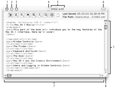A typical window (from BBEdit)
