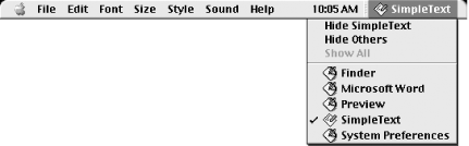 A typical Classic application's menu bar