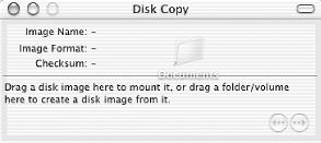 Dragging a folder into Disk Copy