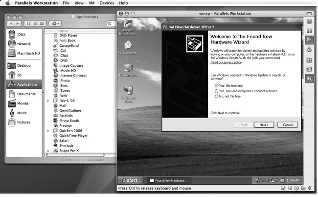 Parallels: Windows in a Window - Mac OS X: The Missing