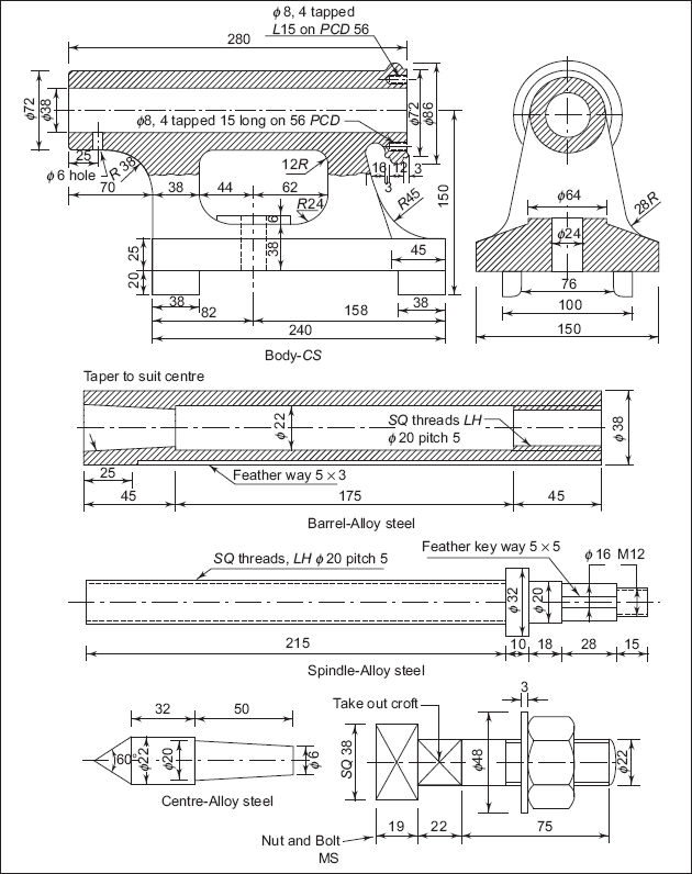 lathe machine drawing pdf - photo #6