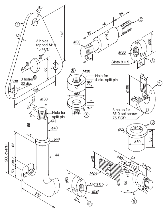 part of a machine assembly