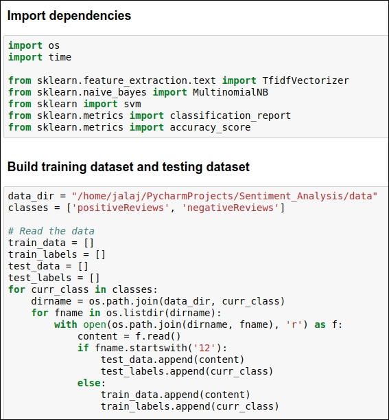 Building the training and testing datasets for the baseline model