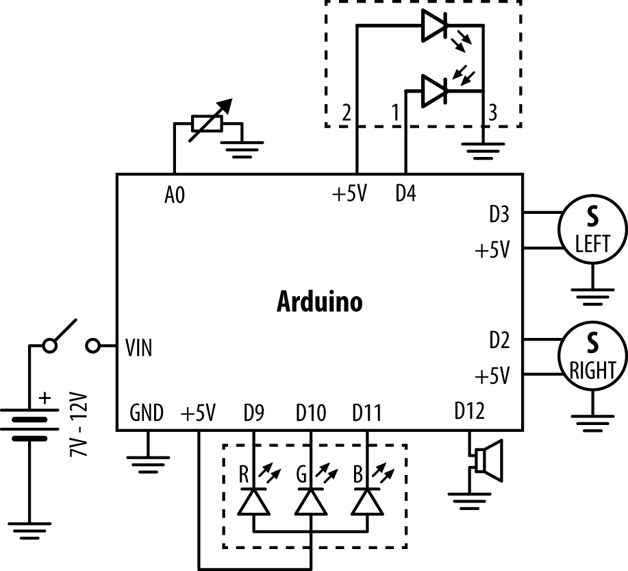 Circuit diagram for allbutmind.pde