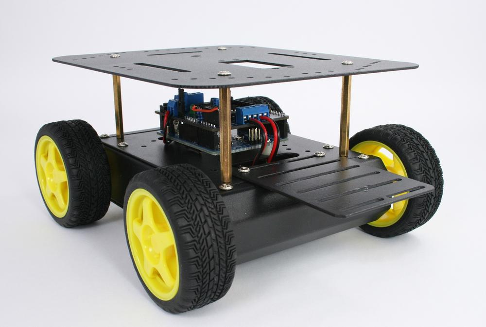 4 Building The Four Wheeled Mobile Platform Make An