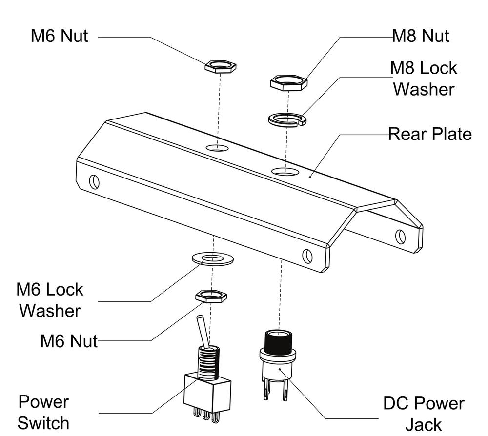 Switch and power jack assembly