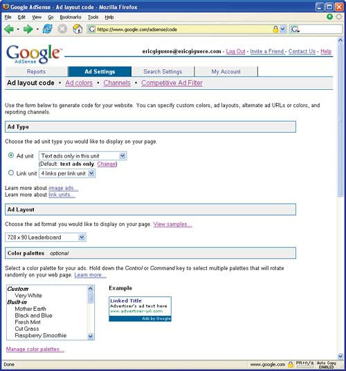 Adding the Code - Make Easy Money with Google: Using the