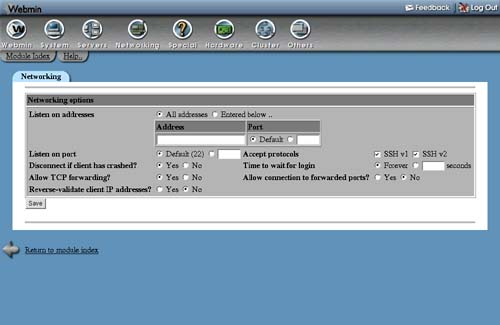 Network Configuration - Managing Linux® Systems with Webmin™ System