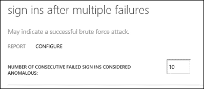 Configuring - sign-ins after multiple failures