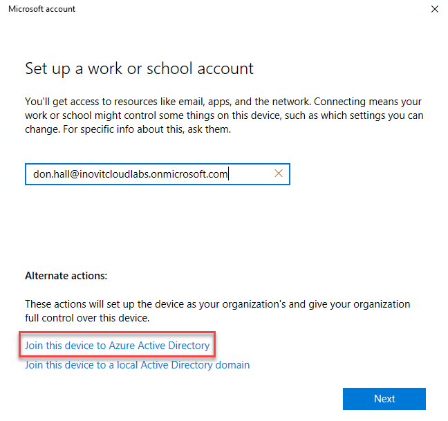 Join your Windows 10 client to Azure AD - Mastering Identity