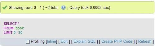 SQL query links