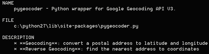 Introduction to pygeocoder - Mastering Python for Networking and