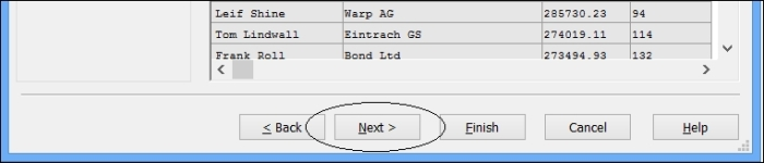 Examining advanced Table File Wizard options