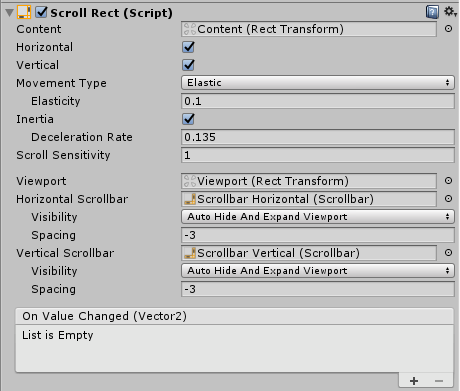 Scroll Rect component - Mastering UI Development with Unity