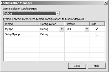 The Configuration Manager dialog box