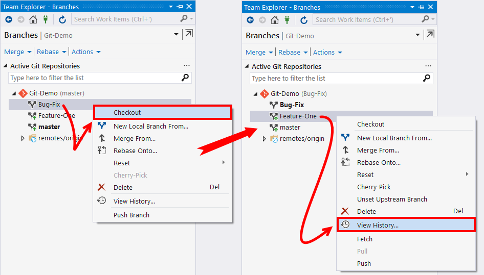Copying commits using Cherry-Pick - Mastering Visual Studio