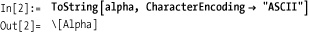 Characters and Character Encodings