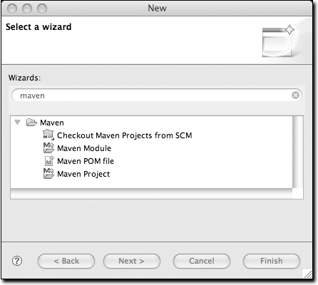 Creating a new project with m2eclipse wizards