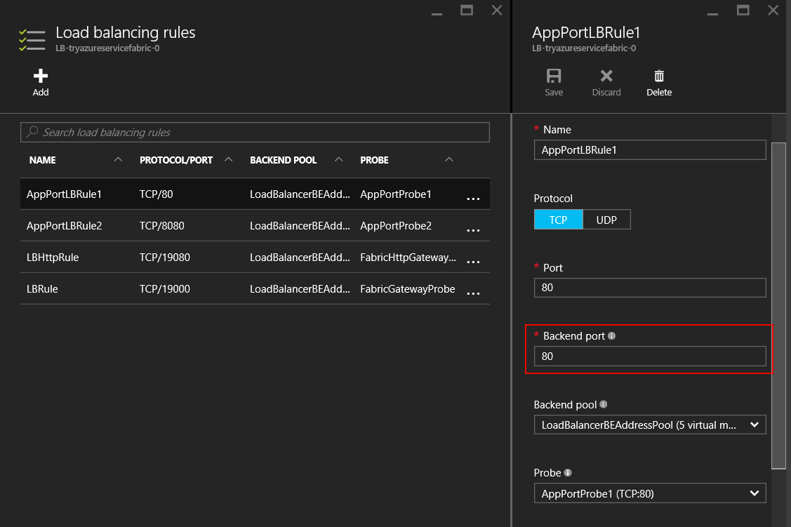 Configuring the Azure load balancer - Microservices with