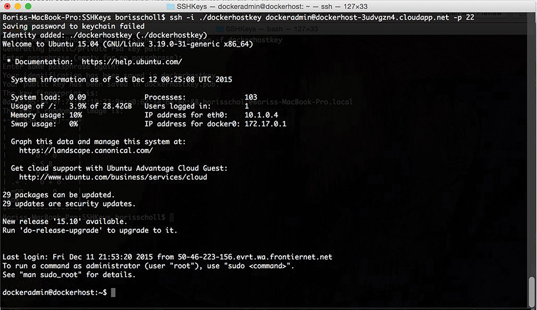Connecting to the VM Using SSH and Git Bash on Mac OS X