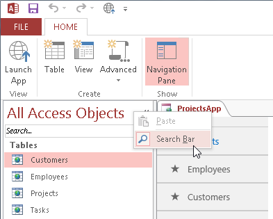 searching for web app objects microsoft access 2013 inside out book