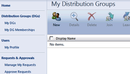 Creating and managing distribution groups