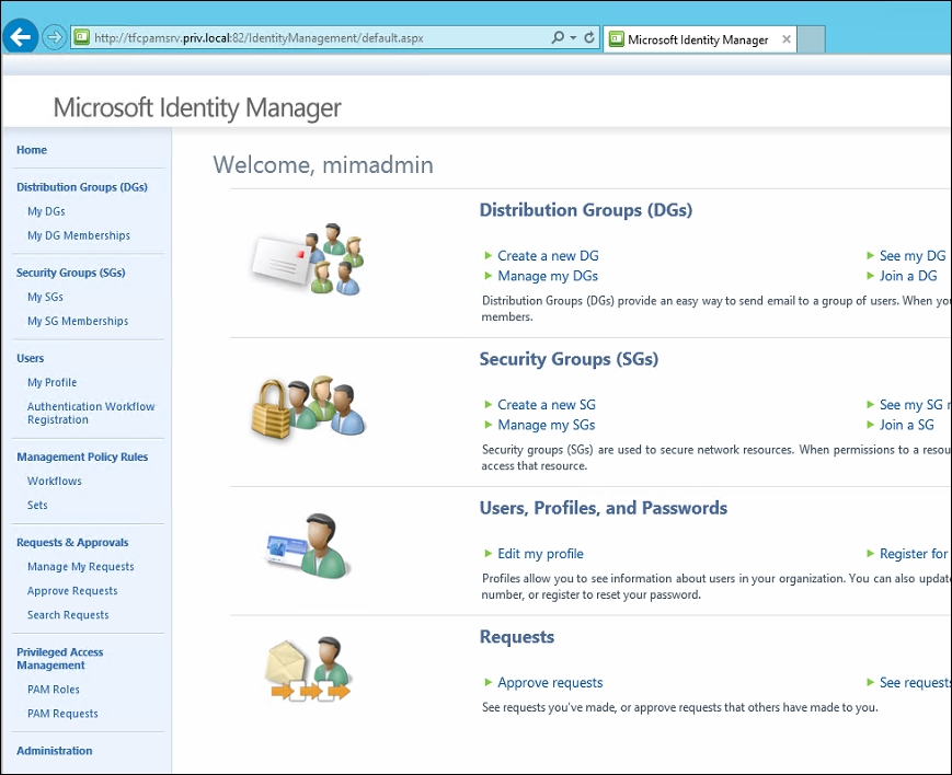 pam in the mim service   microsoft identity manager 2016
