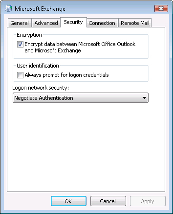 Configuring Security Properties Microsoft Office Outlook 2007