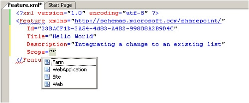 Visual Studio 2005 and IntelliSense association with Windows SharePoint Services schema