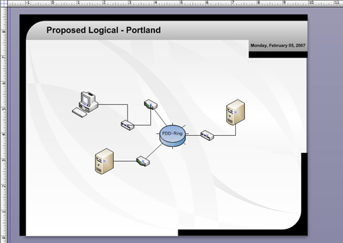Starting a Network Diagram - Microsoft® Office Visio® 2007 Inside