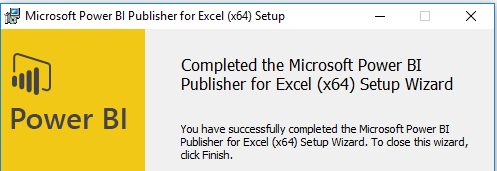 Installation of Power BI Publisher for Excel - Microsoft