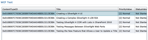 Consuming SharePoint 2010 WCF Data Services from a Silverlight Web Part