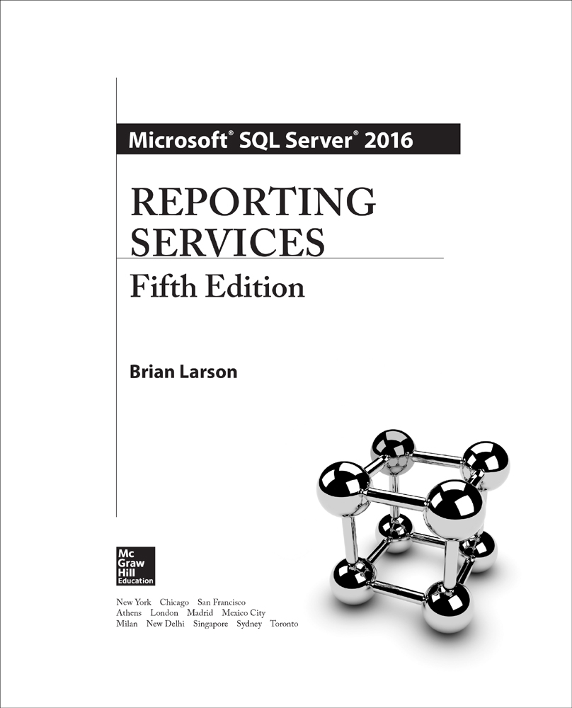 Title Page - Microsoft SQL Server 2016 Reporting Services