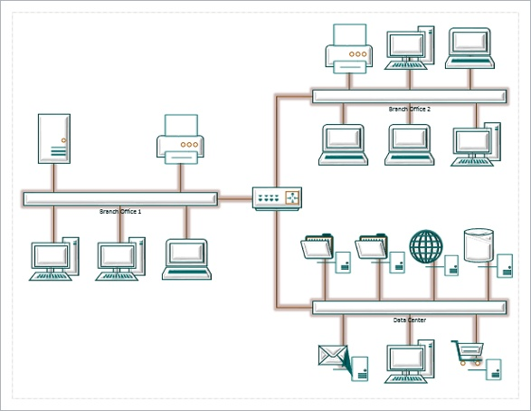 9 Creating Network And Data Center Diagrams Microsoft Visio 2013
