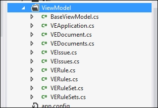 Creating the ViewModel class