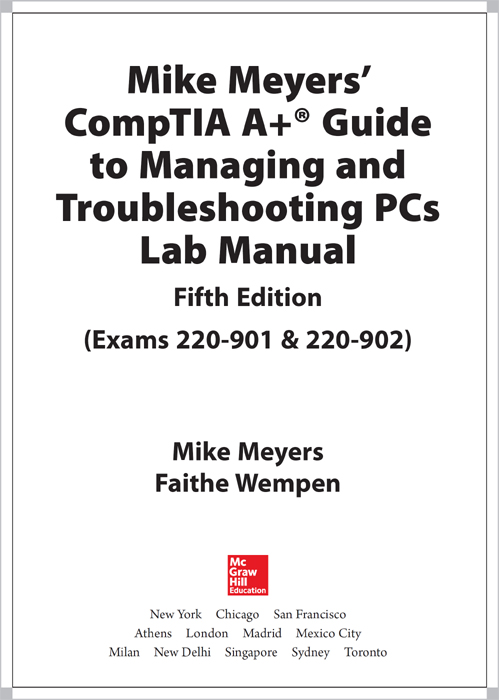 Title Page Mike Meyers CompTIA A Guide To Managing And