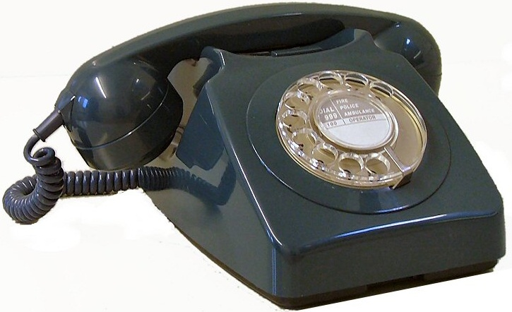 The traditional telephone