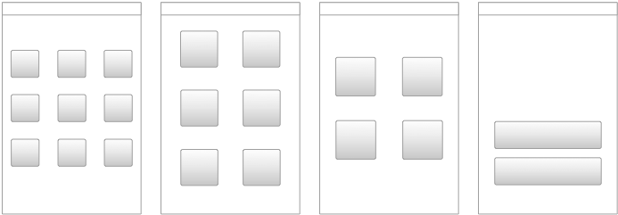 Grid layouts for springboards