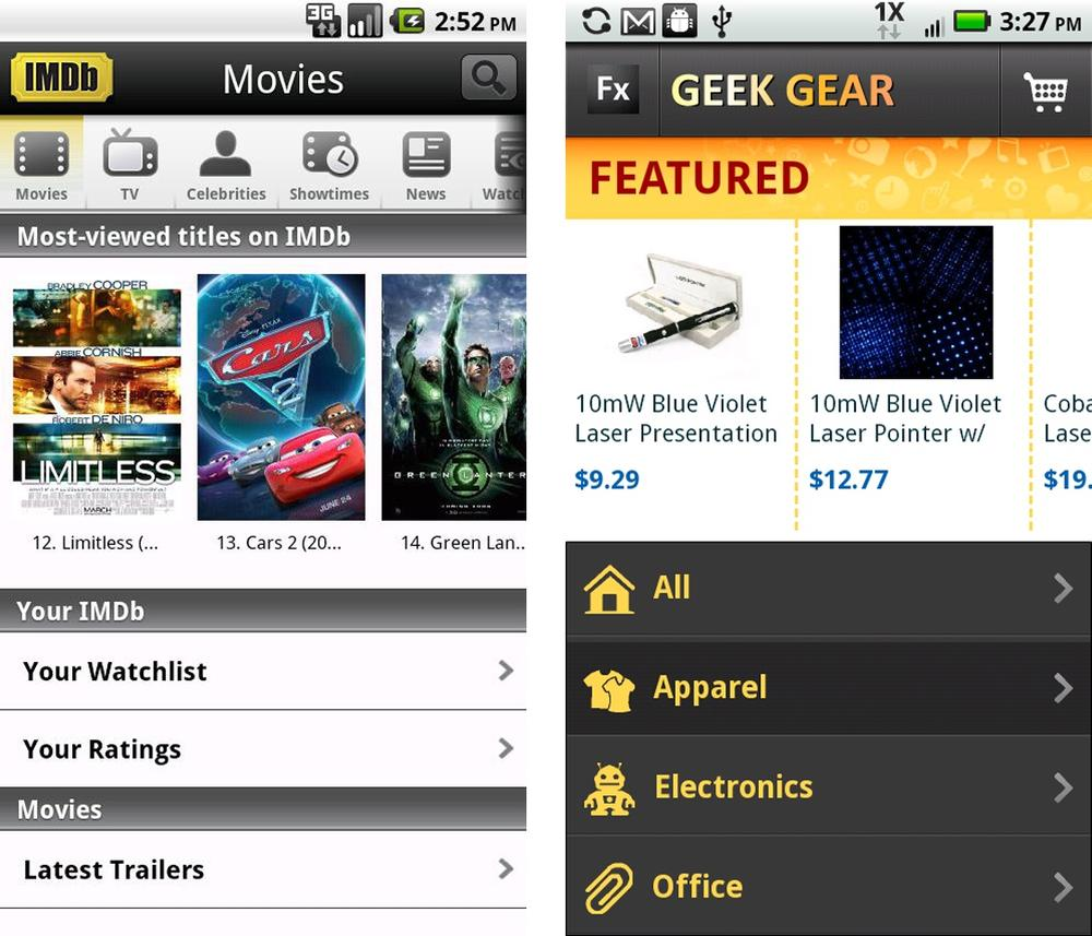 IMDB and Adobe Flex 4.5 Showcase App